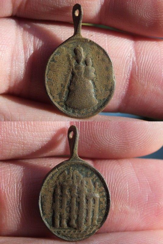 Medaille de l'abbaye d'Einsiedeln (Suisse), XVII-XVIII 02122a38