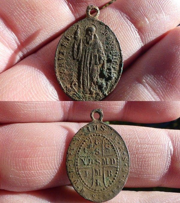 Medaille de Saint Benoit ou Medaille des Sorciers XIX ième 34af0fe8