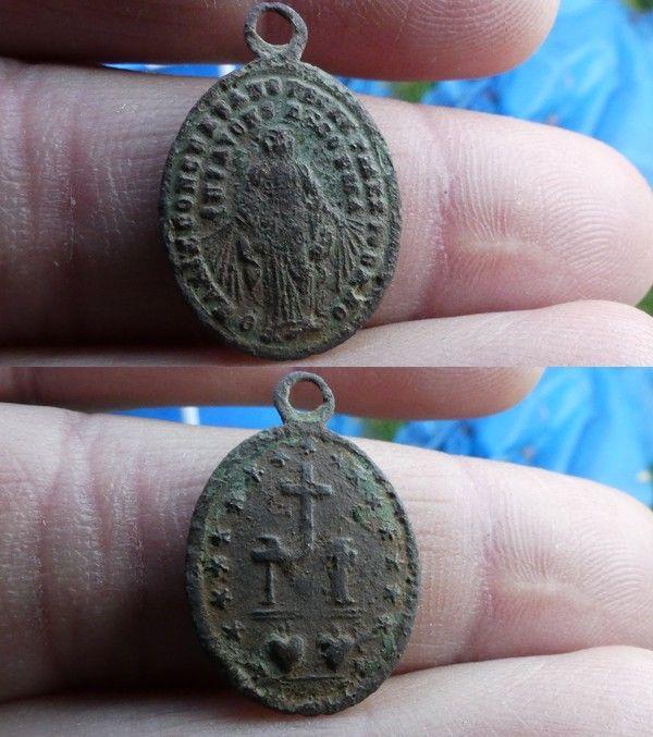 Medaille miraculeuse de la rue du Bac XIX ième siècle 88a8b8ee