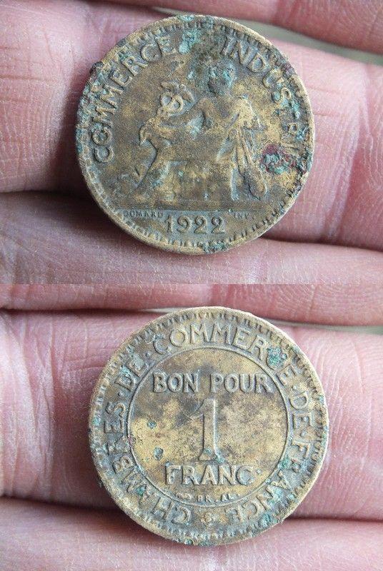 Chambre de commerce bon pour 1 franc 1922 valeur piece for Bon pour 1 franc chambre de commerce