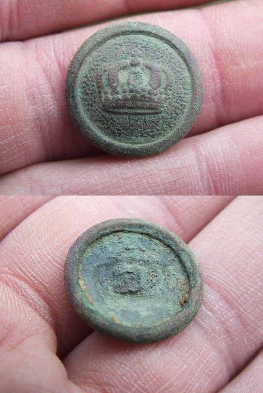 Bouton prussien à la couronne 1870-1914 964fe3d6
