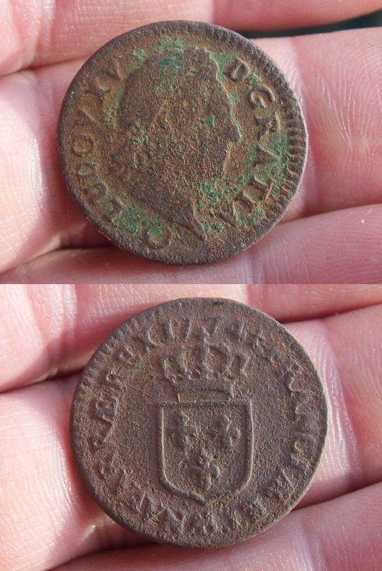 Demi sol la vieille t te de louis xv 1774 piece monnaie louis xv 1752 - Sol en piece de monnaie ...