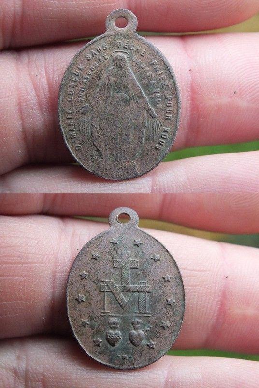 Medaille miraculeuse de la rue du Bac en cuivre 99811625