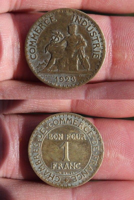 Chambre de commerce bon pour 1 franc 1922 bon pour 1 for Bon pour 1 franc chambre de commerce