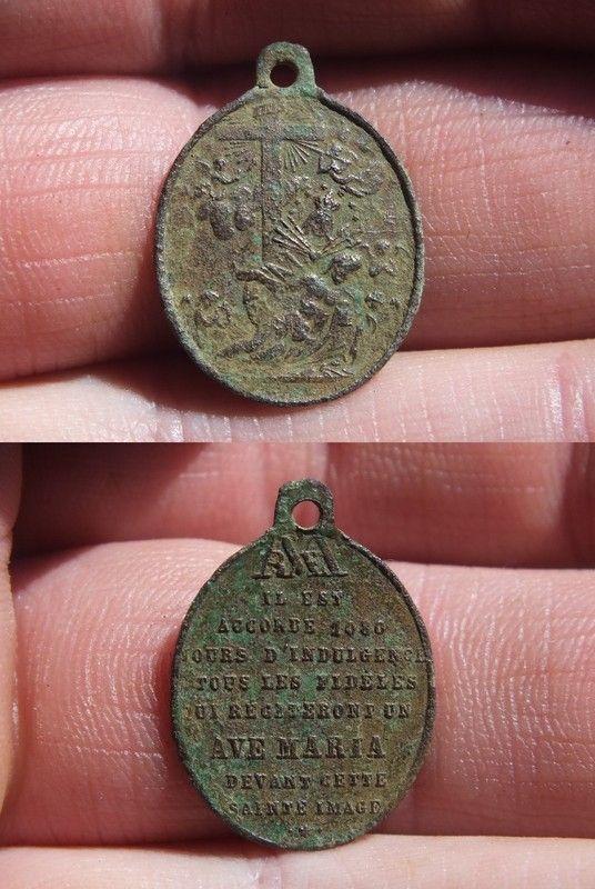 """Médaille ovale """"AVE MARIA"""" A5c6dd35"""