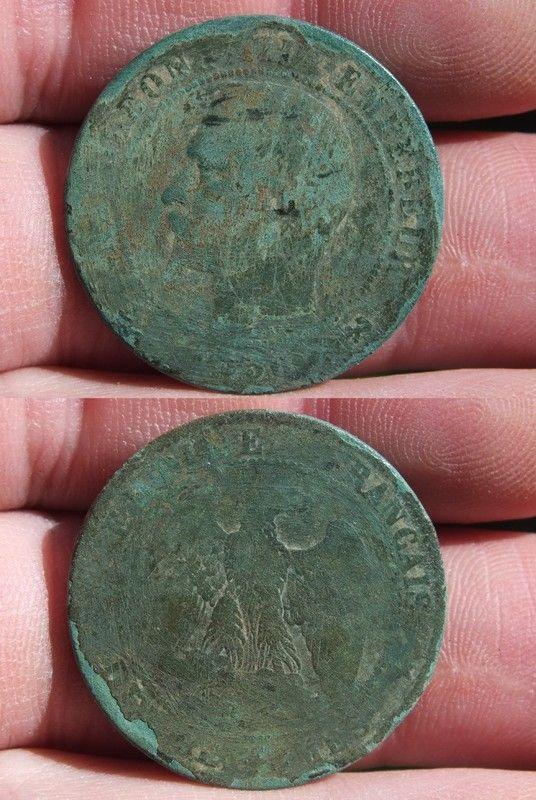 10 centimes Napoleon III 1856 B