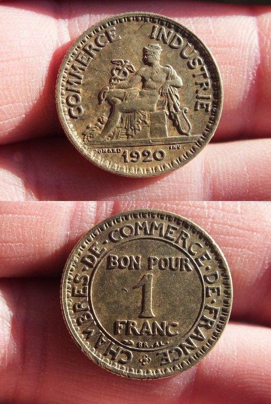 Chambre de commerce bon pour 1 franc 1920 for Bon pour 1 franc chambre de commerce