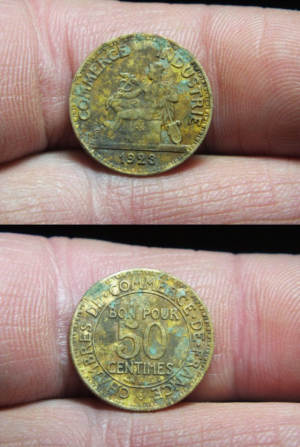 Chambre de commerce bon pour 50 centimes 1923 for Bon pour 1 franc chambre de commerce