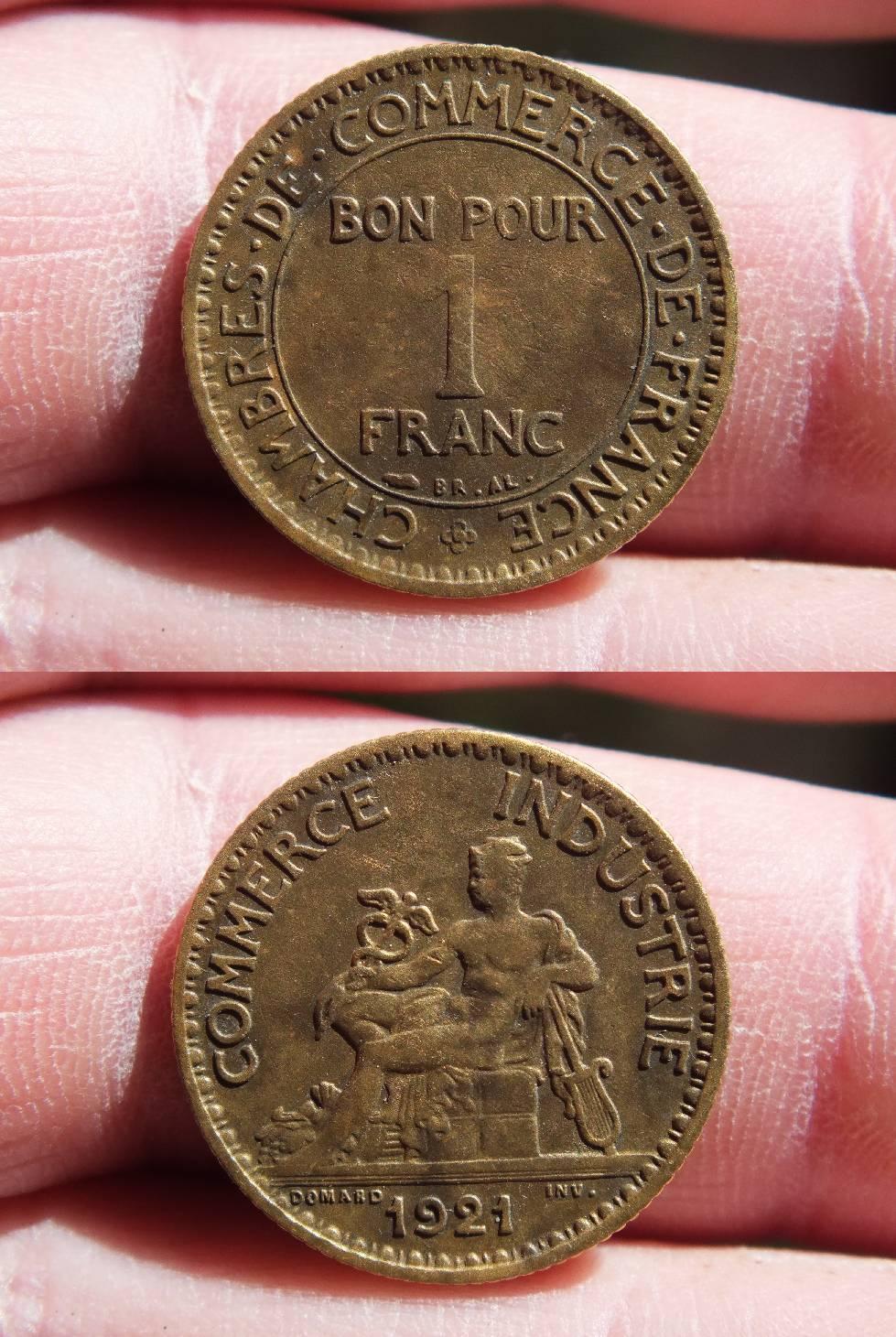 Chambre de commerce bon pour 1 franc 1921 for Bon pour 1 franc chambre de commerce